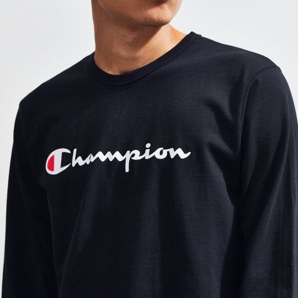 b17168c0ae54 Champion Shirts | Flash Sale Nwt Vintage Black Long Sleeve | Poshmark